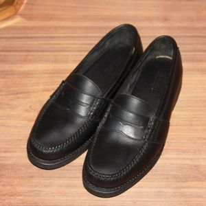Ralph Lauren Black Leather Casual Loafers